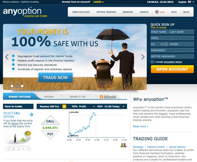 Anyoption Platform