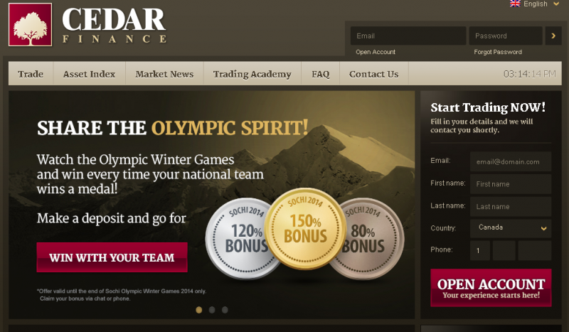Cedar finance the binary options revolution