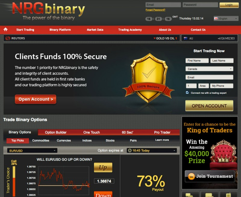 Nrg binary options login