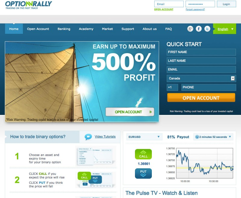 Optionrally traders login