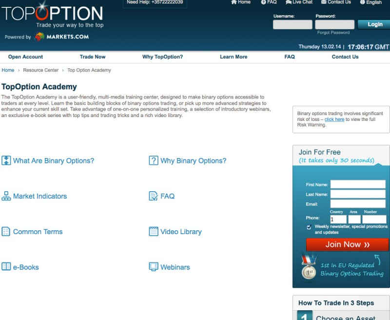 Ontario binary options