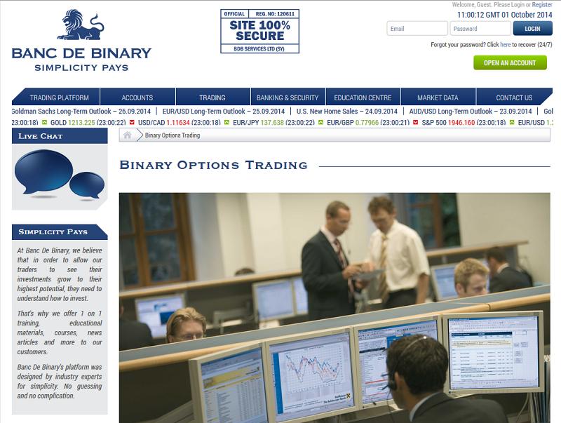 Binary options experts login sport betting online canada