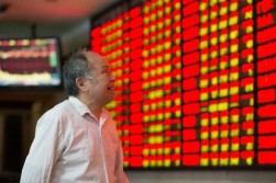 China's stock market as indicated by the bull and bear regions