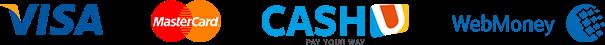 Deposit and Widrawal options: Visa, MasterCard, CashU WebMoney